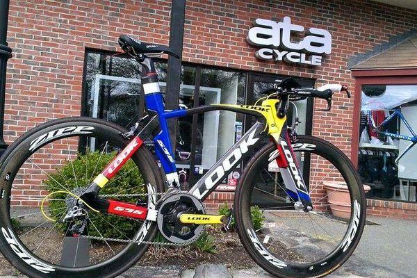 C'est ce vélo de chrono qu'Annabelle Dréville s'est fait voler à Lille.