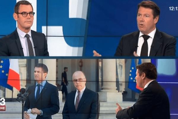 Le député-maire UMP de Nice, Christian Estrosi, était l'invité du 12/13 sur France 3 ce dimanche.