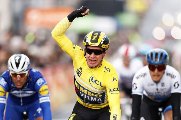 Le Néerlandais Dylan Groenewegen remporte la seconde étape du Paris-Nice à Bellegarde (Loiret)