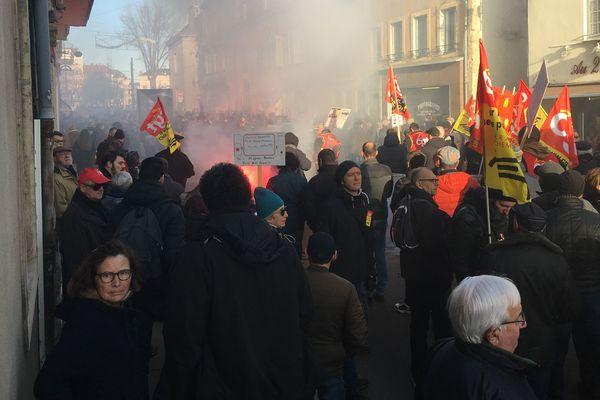 Manifestation du 10 décembre 2019, à Dijon.