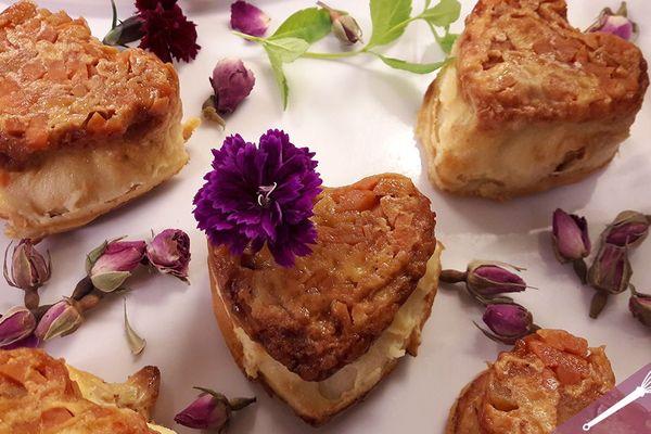 Les coeurs de clafoutis aux pommes et patates douces