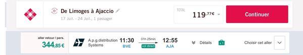 Capture d'écran des sites de Volotea et aéroport de Brive