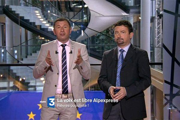 Fabrice Liégard et Renato Willien au Parlement Européen de Strasbourg