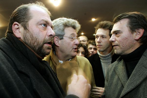 Eric Dupond-Moretti avec Frank Berton (à droite), en décembre 2005 pendant l'affaire d'Outreau.