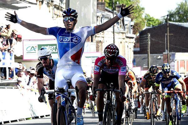 À l'arrivée de la dernière étape de l'édition 2017 à Dunkerque.
