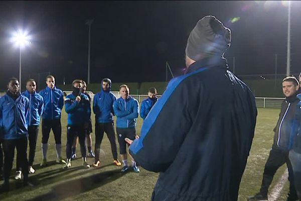 Dernier entraînement pour le FC Saint-Lô avant les 16e de finale face aux Herbiers