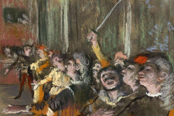 "Photographie des ""Choristes"", d'Edgar Degas."