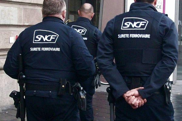 Image d'illustration. Agents SUGE. Sûreté ferroviaire SNCF