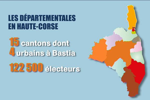 Les cantons de Haute-Corse.