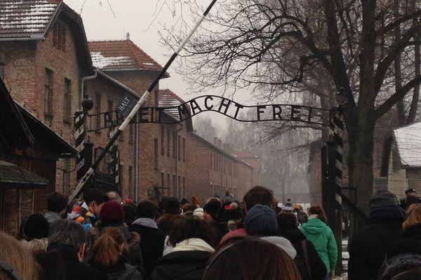 L'entrée du camp Auschwitz I