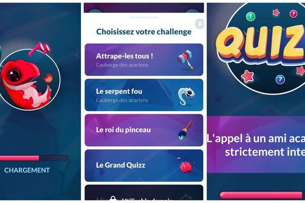 Captures d'écran de l'application Drago, lancée en novembre 2020.