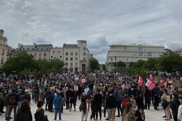 Les manifestants se sont rassemblés Place Maréchal Leclerc