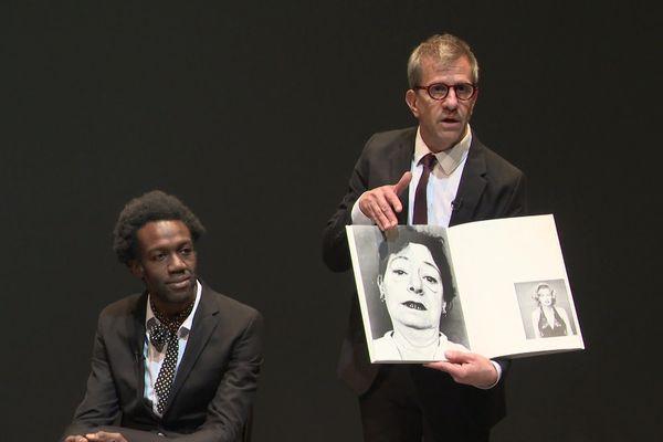 Quand Richard Avedon ( M. Di Fonzo Bo) travaille avec James Baldwin (JC.Folly)  de quoi parlent-ils? Réponse à la comédie de Caen