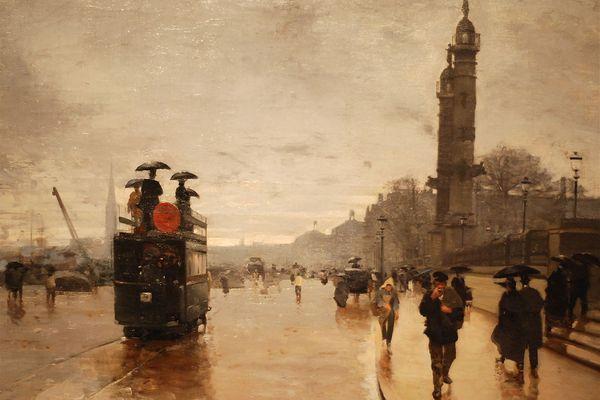 """""""Tramway devant la place des Quinconces"""" Alfred Smith (1890) - Musée des Beaux-Arts de Bordeaux"""