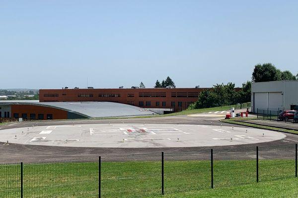 L'héliport du CHU de Limoges est actuellement vide.