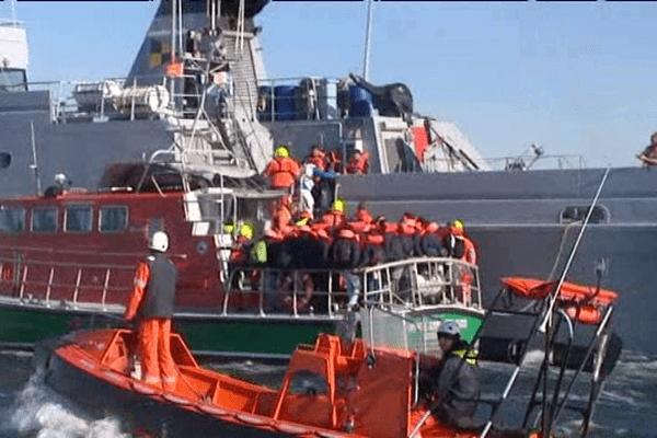 L'exercice Sarex 2015 s'est déroulé ce lundi matin à 5 miles des côtes de Ouistreham
