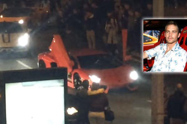 Des luxueuses voitures de sport ont paradé à Béthune pour rendre hommage à Paul Walker.