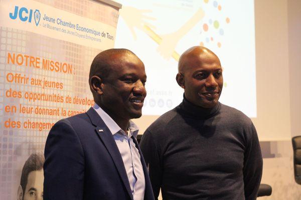 Lancement de Teaching Boost avec Aboubacar Harouna Seybou, initiateur du projet et Harry Roselmack.