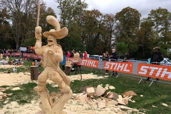 Le Capitaine Crochet sculpté par Guillaume Andelot, le champion de l'édition 2019. Il lui vaut la troisième place du podium en 2020.