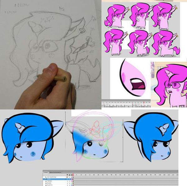 OhPonyBoy dessine et anime ses personnages à la main.