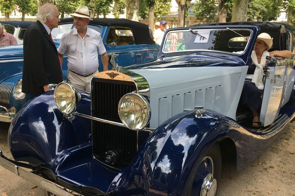 Les courbes des Hispano-Suiza sont une valeur indémodable des concours d'élégance d'automobiles anciennes.