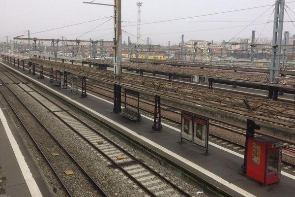 Pas de train en vue à Toulouse Matabiau, vendredi dernier