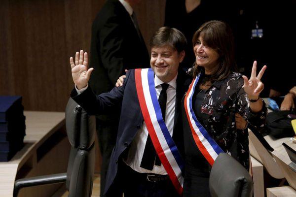 Benoît Payan, 1er adjoint de la nouvelle maire de Marseille Michèle Rubirola, élue lors du conseil municipal, le 4 juillet 2020.