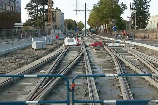 Le chantier de la future ligne de tramway T6 à Lyon