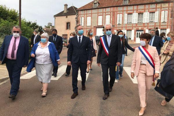 Jacqueline Gourault, Jean-Baptiste Lemoyne, Cédric O et Joël Girault sont en visite dans l'Yonne ce 27 août pour deux inaugurations à Sergines et à Bussy-en-Othe.