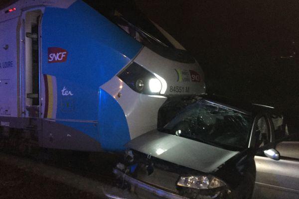 Accident sans blessés à la Haie-Fouassière (Loire-Atlantique) le vendredi 31 janvier 2020 en soirée
