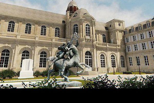 L'ancien hôtel de ville de Caen, reconstitué en 3 D par l'association Cadomus