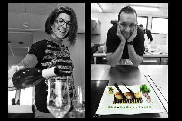 Aurélie (en salle) et Jean-Charles Batard (en cuisine) ont reprise le restaurant Clémence en 2006.