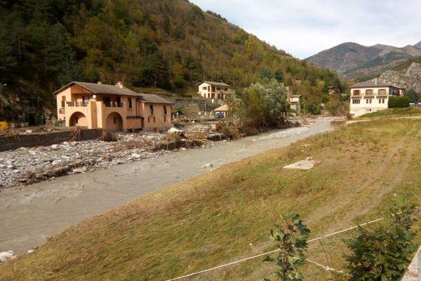 L'entrée du village de Tende ce lundi 5 octobre.