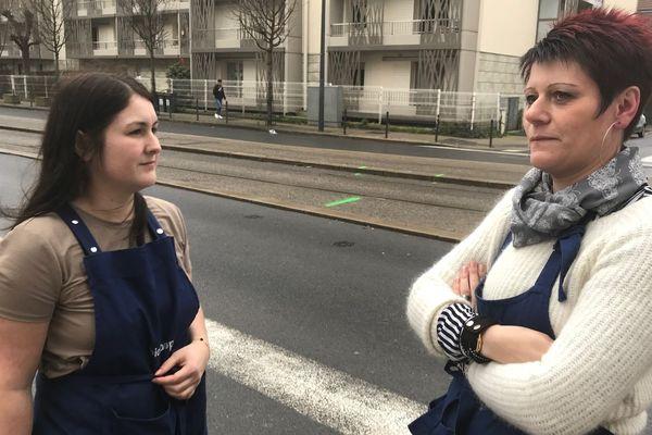 Les salariés et la responsable adjointe du magasin d'en face, très choquées par cet accident à Reims.
