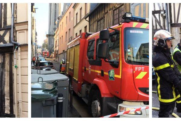 Une vingtaine d'appartements ont été touchés par un incendie le 12 avril 2019, rue Saint-Nicaise à Rouen.
