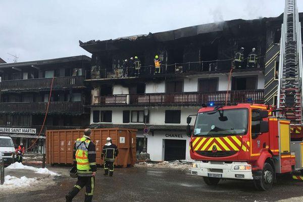 Le bâtiment qui a brûlé et qui abritait les saisonniers à Courchevel.