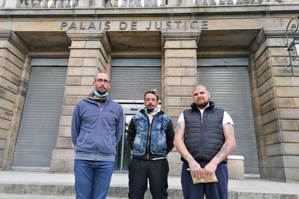 Julien Tréhorel, Jonathan Thomas et Romain Guigan ont été condamnés à 6 ou 8 mois de prison avec sursis, suite à un barbecue qui a dégénéré vendredi 14 mai à Erquy.