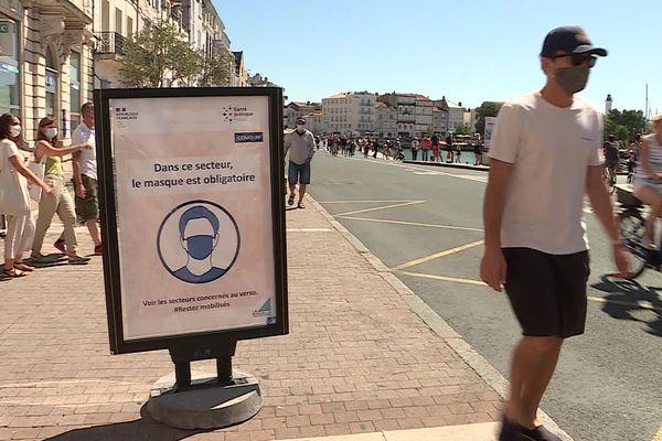 Cet été, le masque était obligatoire en extérieur à La Rochelle