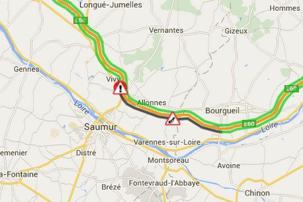 L'A85 sera fermée entre Longué-Jumelles et Saumur dans la nuit du 21 au 22 février 2019
