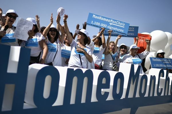 Une manifestation de soutien à l'homéopathie, en juin.