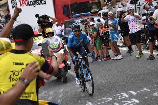 Nairo Quintana remporte la 18e étape entre Embrun et Valloire (Savoie)