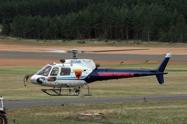 Hélicoptère de secours des sapeurs-pompiers de l'Aveyron.