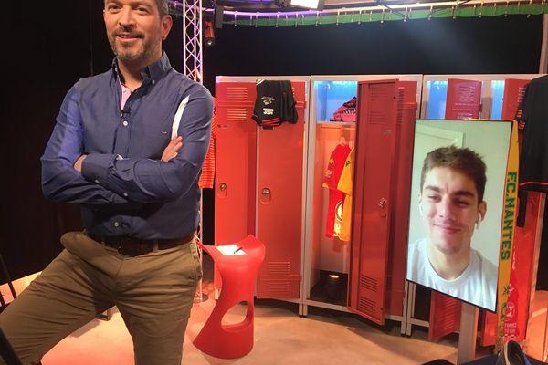 Tom Duponchelle,défenseur du Stade Lavallois, invité de l'émission #USBFOOT et d'Anthony Brulez
