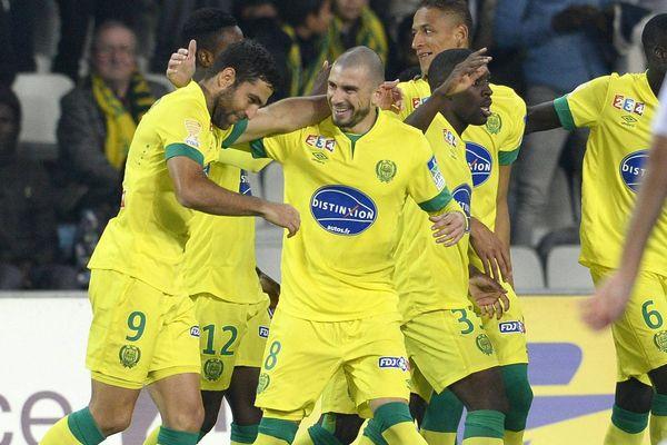 FC Nantes contre Laval, la joie des nantais après le but de Shechter