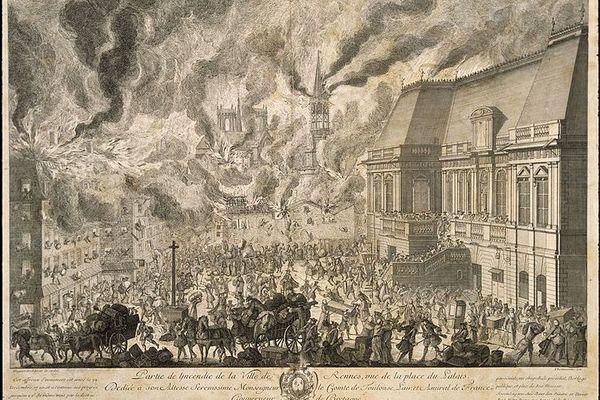 Une archive du Musée de Bretagne témoigne de l'incendie qui a touché Rennes en 1720