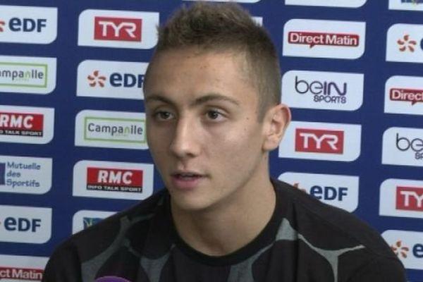 Jordan Pothain en conférence de presse à Montpellier au sujet de l'imbroglio autour du 200 m libre - 31 mars 2016