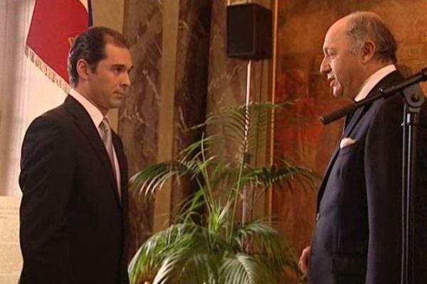 Tugan Sokhiev et Laurent Fabius au Capitole.