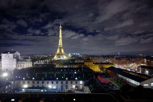 Paris, la nuit, le 24 janvier 2018.