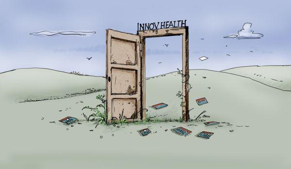 """""""Quand vous faites un article avec une porte et du sable, ça dézingue la société. C'est évidemment négatif et nous, on rame derrière"""", expose Sylvain Bertrand, vice-président d'InnovHealth."""