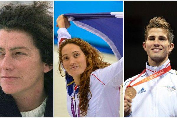Florence Arthaud, Camille Muffat et Alexis Vastine ont péri dans l'accident d'hélicoptère (AFP)